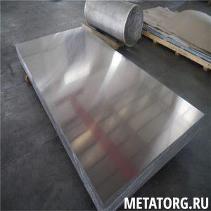 Лист алюминиевый АМцС